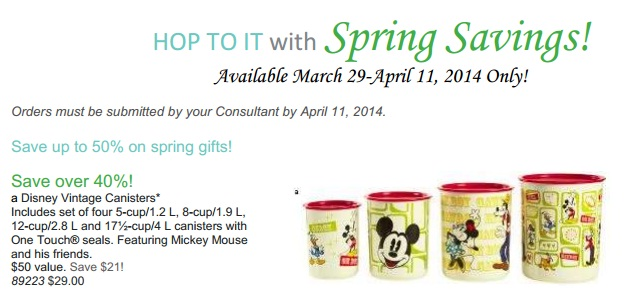 Disney Canisters from Tupperware