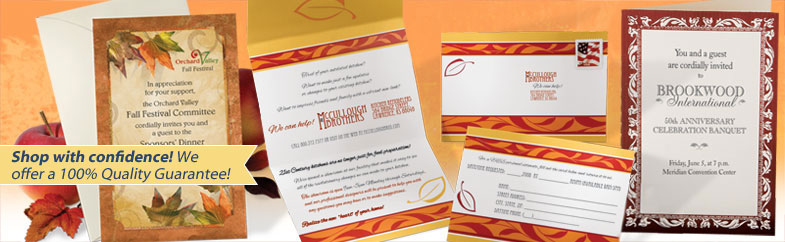 Paper Direct Fall Invitations