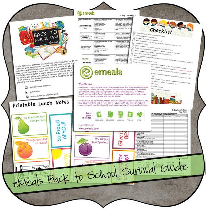 eMeals Back to School Survival Guide