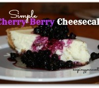 Good Eatin Recipe Hop | Cherry Berry Cheesecake