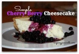Good Eatin Recipe Hop | Cherry Berry Cheesecake