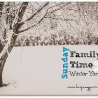Sunday Family Time — Winter Yard