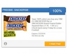 Get a Free Snickers Bar From SavingStar