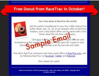 RaceTrac Insiders Free Donut