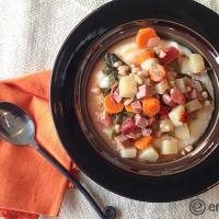 Ham Kale Navy Bean Stew