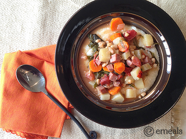 eMeals Slow Cooker Ham Kale Stew