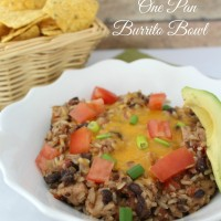 Easy Weeknight Dinner: One Pan Burrito Bowls