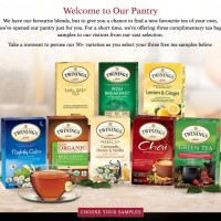 Free sample of Twinings Tea