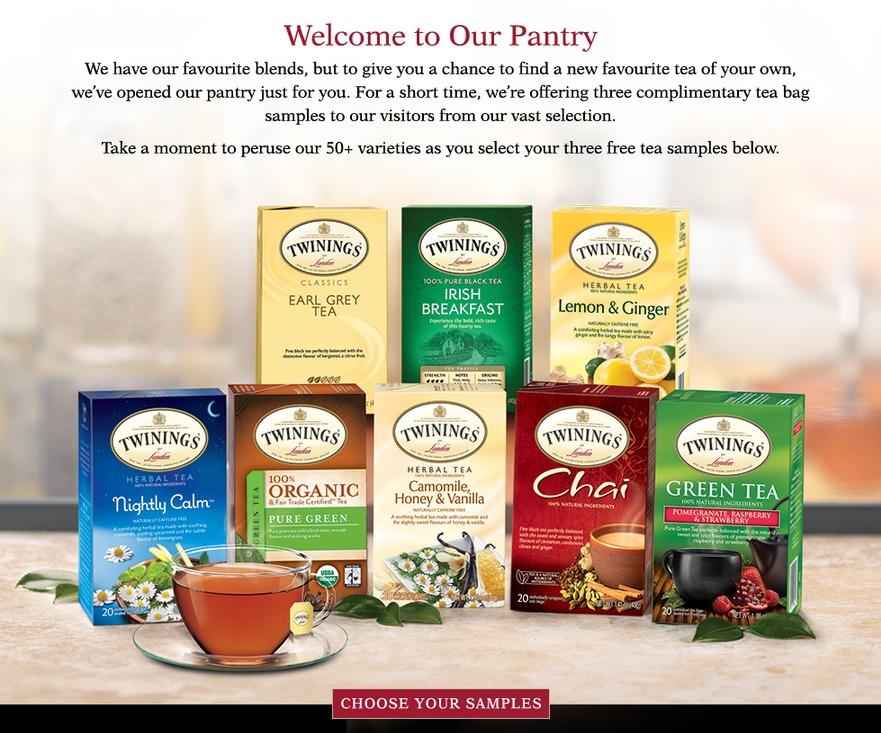 Free sample of Twinings Tea