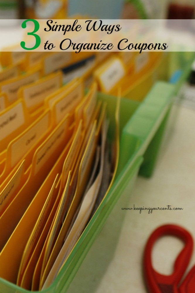 3 Simple Ways to Organize Coupons