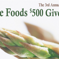 Enter to Win $500 Whole Foods Gift Card