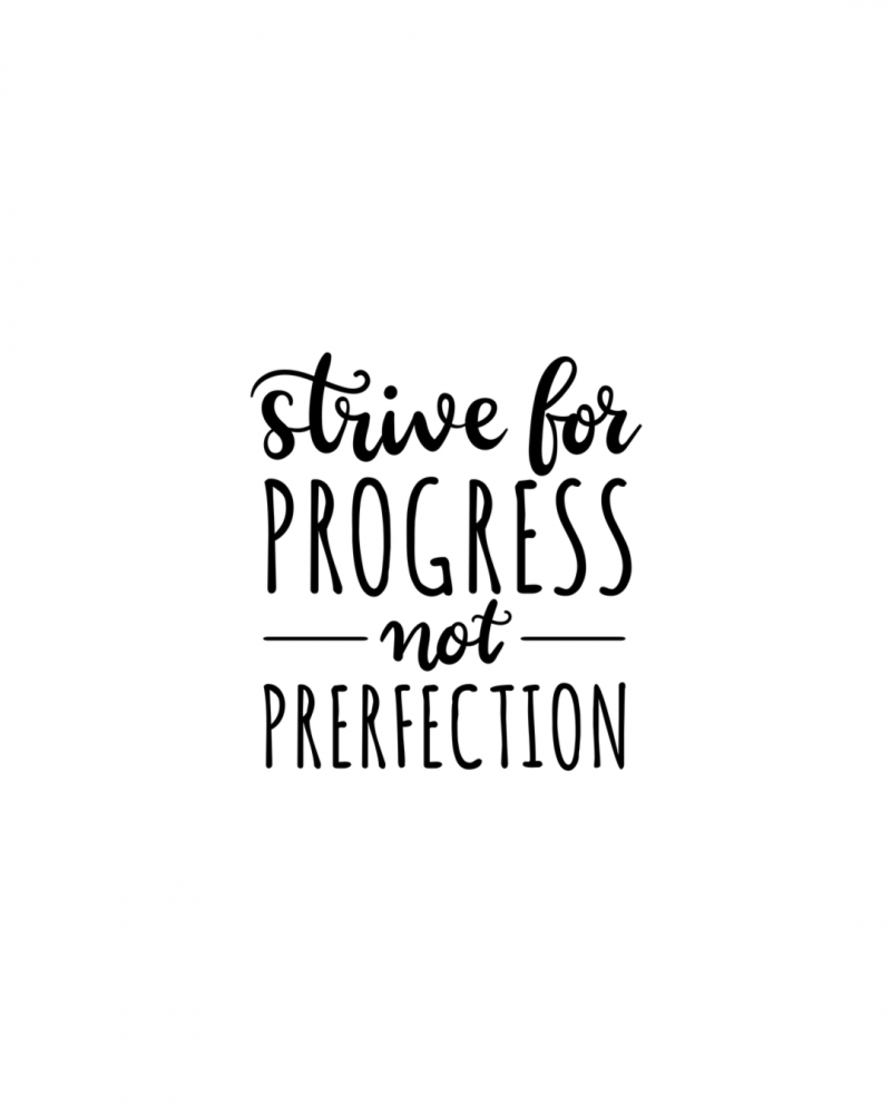 Quote of Strive for Progress not Perfection